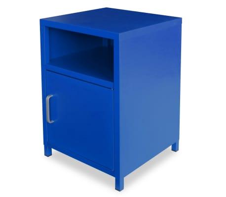 vidaxl table de chevet 35 x 35 x 51 cm bleu. Black Bedroom Furniture Sets. Home Design Ideas