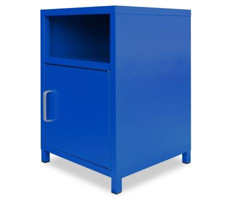 acheter vidaxl table de chevet 35 x 35 x 51 cm bleu pas cher. Black Bedroom Furniture Sets. Home Design Ideas