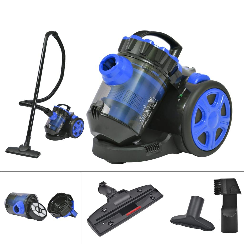 vidaXL Bezsáčkový multi-cyklonový vysavač na podlahy a koberce, modrý