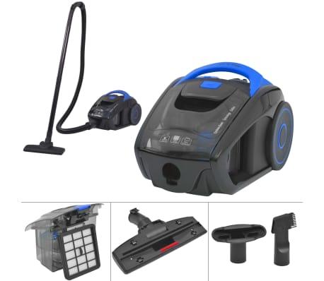 acheter vidaxl aspirateur cyclone sans sac pour tapis de plancher bleu pas cher. Black Bedroom Furniture Sets. Home Design Ideas