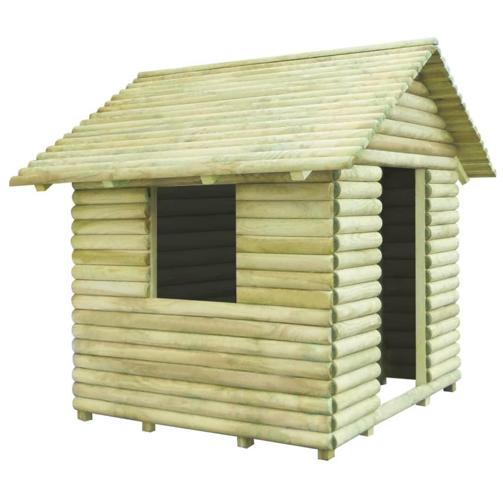 vidaXL Căsuță de joacă din lemn de pin tratat 167x150x151 cm vidaxl.ro