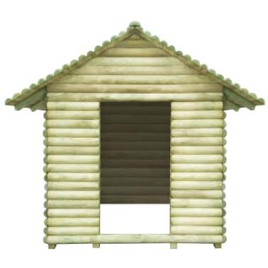 vidaXL Žaidimų namelis, FSC impregnuota pušies mediena, 167x150x151cm[2/4]