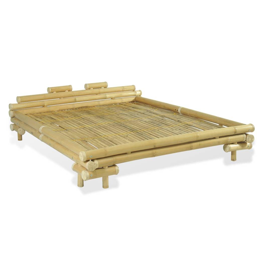 Afbeelding van vidaXL Bed 160x200 cm bamboe naturel