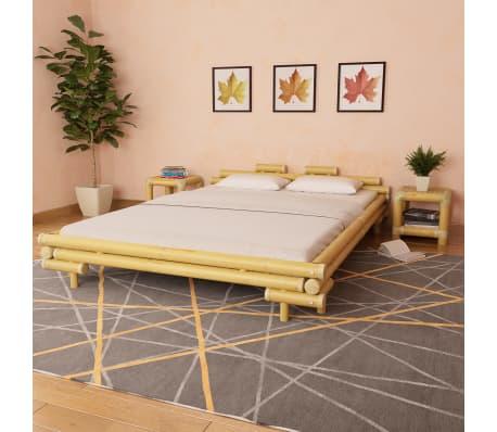 Vidaxl Estructura De Cama De Bambú 160x200 Cm