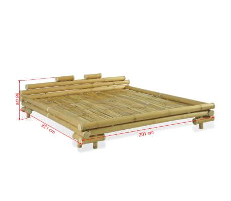 Vidaxl Estructura De Cama De Bambú 180x200 Cm