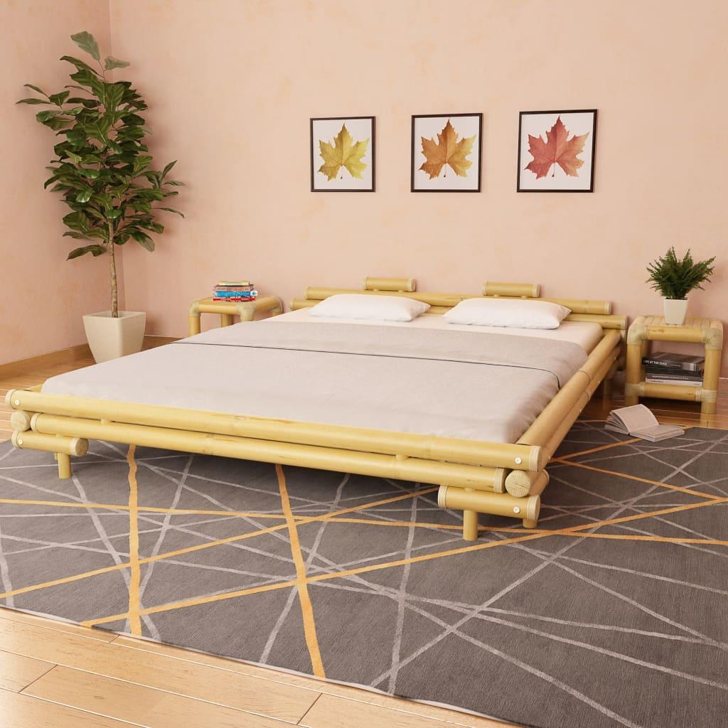 vidaXL Cadru de pat, 180 x 200 cm, bambus poza vidaxl.ro