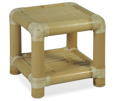vidaXL Noční stolek, bambus, 40x40x40 cm, přírodní