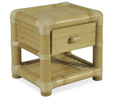 vidaXL Noční stolek 45 x 45 x 40 cm bambus přírodní