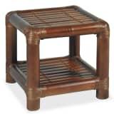 vidaXL Sängbord 40x40x40 cm bambu mörkbrun