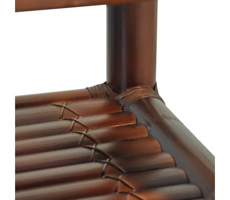 vidaXL Noptieră, 40 x 40 x 40 cm, bambus, maro închis[4/10]