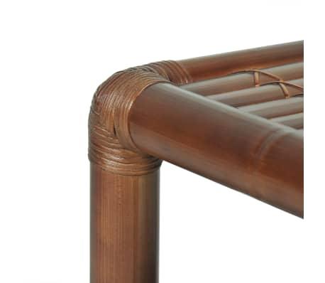 vidaXL Noptieră, 40 x 40 x 40 cm, bambus, maro închis[7/10]
