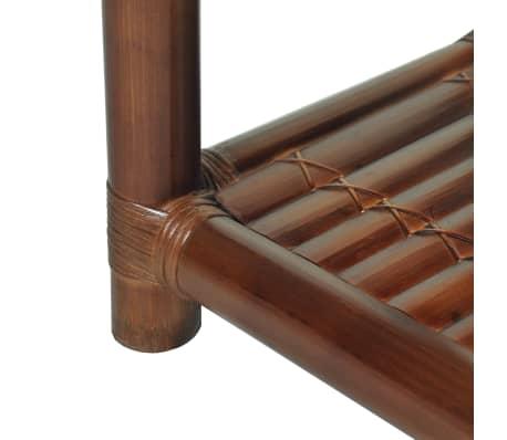 vidaXL Noptieră, 40 x 40 x 40 cm, bambus, maro închis[8/10]