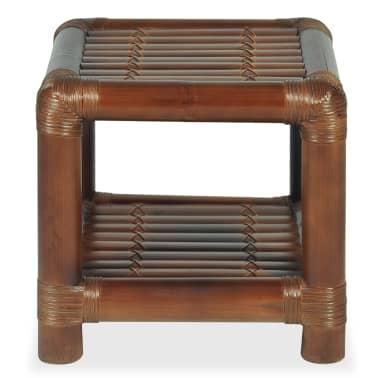 vidaXL Noptieră, 40 x 40 x 40 cm, bambus, maro închis[3/10]