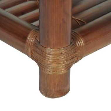 vidaXL Noptieră, 40 x 40 x 40 cm, bambus, maro închis[9/10]