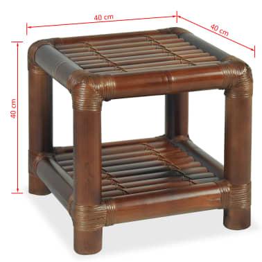 vidaXL Noptieră, 40 x 40 x 40 cm, bambus, maro închis[10/10]