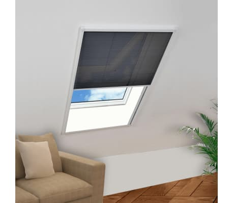 vidaxl insektenschutz plissee f r fenster aluminium 60 x 80 cm g nstig kaufen. Black Bedroom Furniture Sets. Home Design Ideas