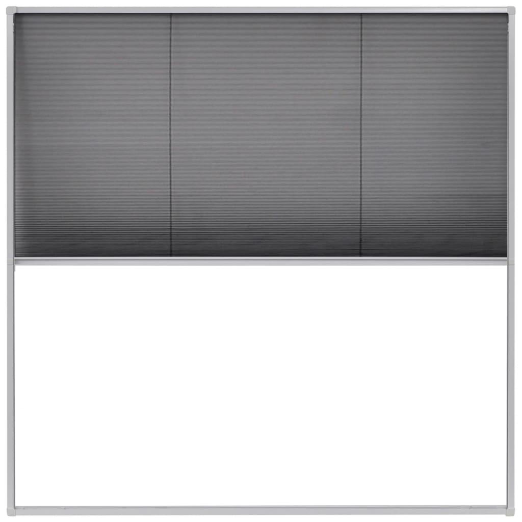 Afbeelding van vidaXL Raamhor plissé 120x120 cm aluminium