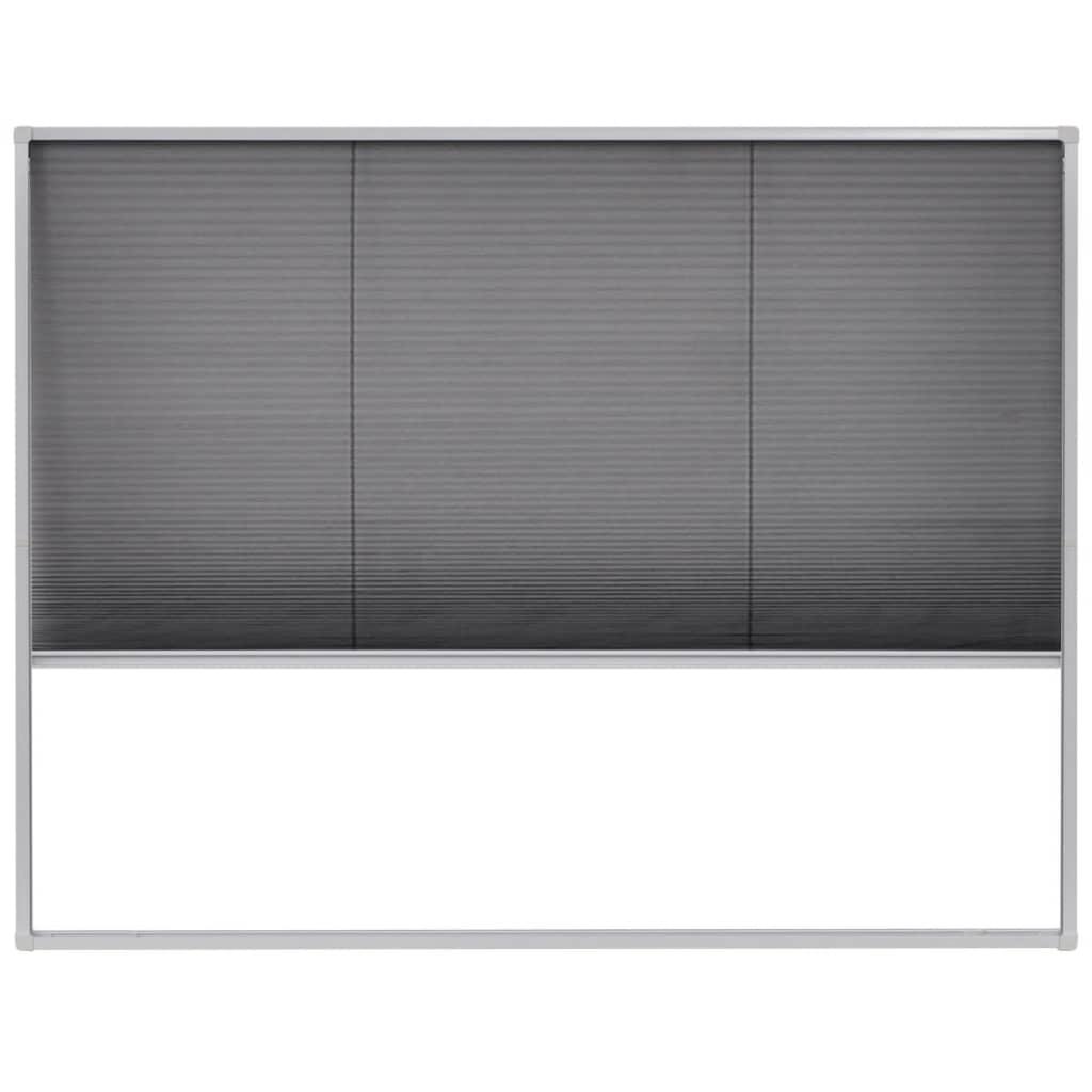 Afbeelding van vidaXL Raamhor plissé 130x100 cm aluminium