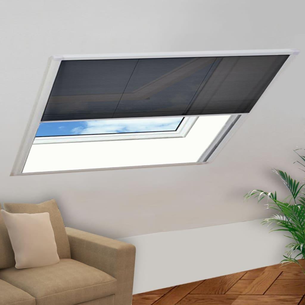 vidaXL Ecran insecte pentru ferestre aluminiu, 130x100 cm imagine vidaxl.ro