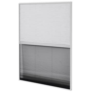 "vidaXL Plisse Insect Screen for Window Aluminum 23.6""x31.5"" with Shade[2/8]"