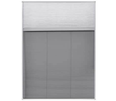"vidaXL Plisse Insect Screen for Window Aluminum 23.6""x31.5"" with Shade[3/8]"