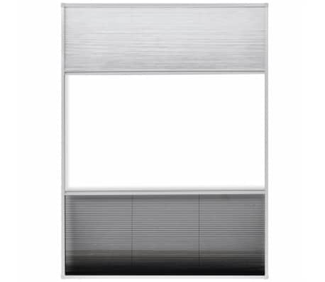 "vidaXL Plisse Insect Screen for Window Aluminum 23.6""x31.5"" with Shade[5/8]"