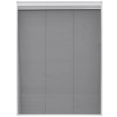 "vidaXL Plisse Insect Screen for Window Aluminum 23.6""x31.5"" with Shade[4/8]"