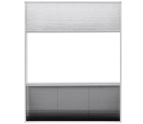 "vidaXL Plisse Insect Screen for Window Aluminum 31.5""x39.4"" with Shade[5/8]"