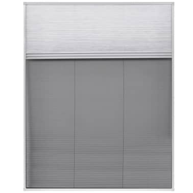 "vidaXL Plisse Insect Screen for Window Aluminum 31.5""x39.4"" with Shade[3/8]"
