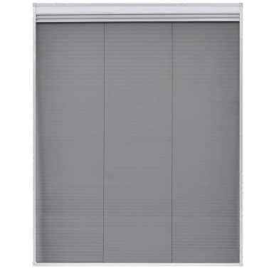 "vidaXL Plisse Insect Screen for Window Aluminum 31.5""x39.4"" with Shade[4/8]"