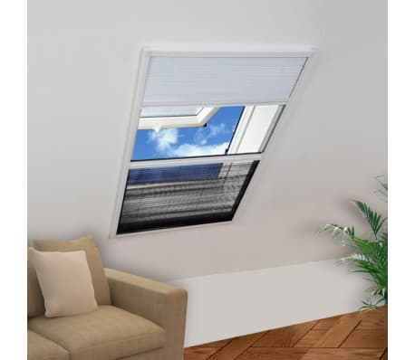 "vidaXL Plisse Insect Screen for Window Aluminum 31.5""x39.4"" with Shade[1/8]"