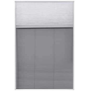 "vidaXL Plisse Insect Screen for Window Aluminum 31.5""x47.2"" with Shade[3/8]"