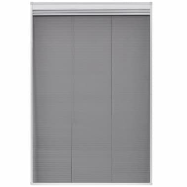 "vidaXL Plisse Insect Screen for Window Aluminum 31.5""x47.2"" with Shade[4/8]"