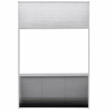 "vidaXL Plisse Insect Screen for Window Aluminum 31.5""x47.2"" with Shade[5/8]"