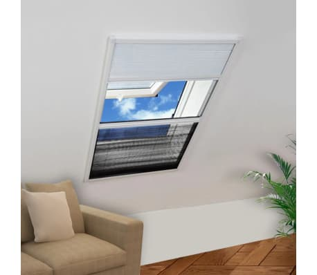 "vidaXL Plisse Insect Screen for Window Aluminum 31.5""x47.2"" with Shade[1/8]"