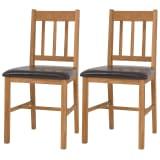 vidaXL Esszimmerstühle 2 Stk. Massives Eichenholz 43 x 48 x 85 cm