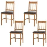 vidaXL Chaise de salle à manger 4 pcs Chêne massif 43 x 48 x 85 cm