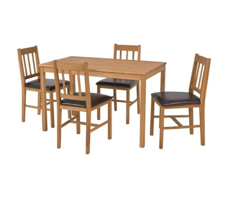 vidaXL Conjunto de sala de jantar 5 pcs carvalho maciço