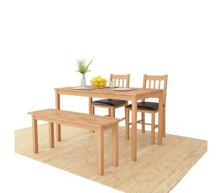 Vidaxl Dining Room Set 4 Pieces Solid Oak
