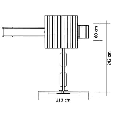 vidaXL Lekställning med rutschkana stege gungor 242x237x218 cm furu[6/7]
