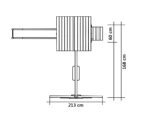 vidaXL Aire de jeu et toboggan échelle balançoire Pinède[5/5]