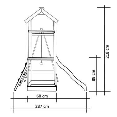 vidaXL Aire de jeu et toboggan échelle balançoire Pinède[4/5]