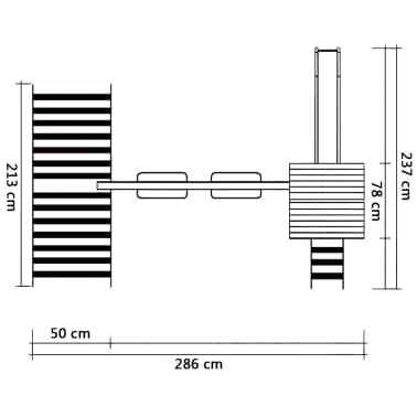 vidaXL Speelhuis met ladder en schommels 286x237x218 cm FSC grenenhout[5/5]