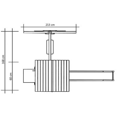vidaXL Lekställning med rutschkana och gunga 228x168x218 cm furu[7/8]