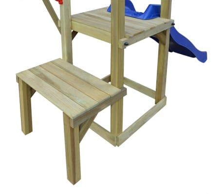 vidaXL Plac zabaw ze zjeżdżalnią, drabinami i huśtawkami, drewno FSC[3/6]