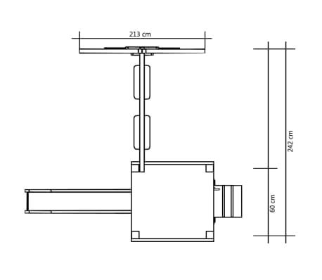 vidaXL Lekställning med rutschkana stege gungor 242x237x175 cm furu[7/8]