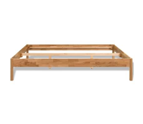 vidaxl doppelbett mit memory schaum matratze eiche massiv. Black Bedroom Furniture Sets. Home Design Ideas