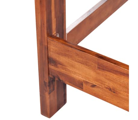 vidaxl bettgestell mit matratze massives akazienholz braun. Black Bedroom Furniture Sets. Home Design Ideas