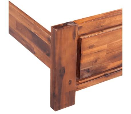 vidaxl bettgestell mit matratze massives akazienholz braun 180x200 cm g nstig kaufen. Black Bedroom Furniture Sets. Home Design Ideas