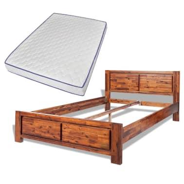 acheter vidaxl cadre de lit et matelas mousse m moire. Black Bedroom Furniture Sets. Home Design Ideas